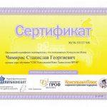 Сертификат ЧДК - Консультант